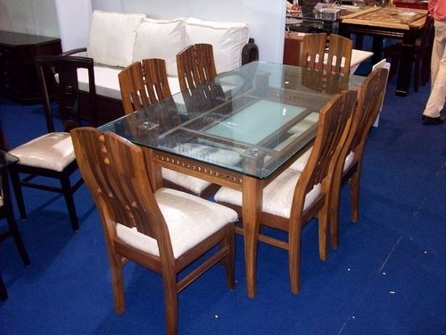 Most Up To Date Wood Dining Tables And 6 Chairs Pertaining To Boss 6 Seater Dining Table At Rs 22500 /set (View 8 of 20)