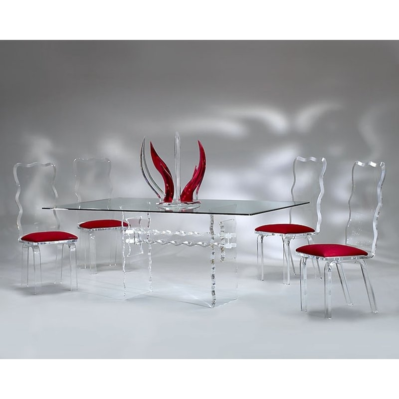 Muniz Crystal Dining Table (View 15 of 20)