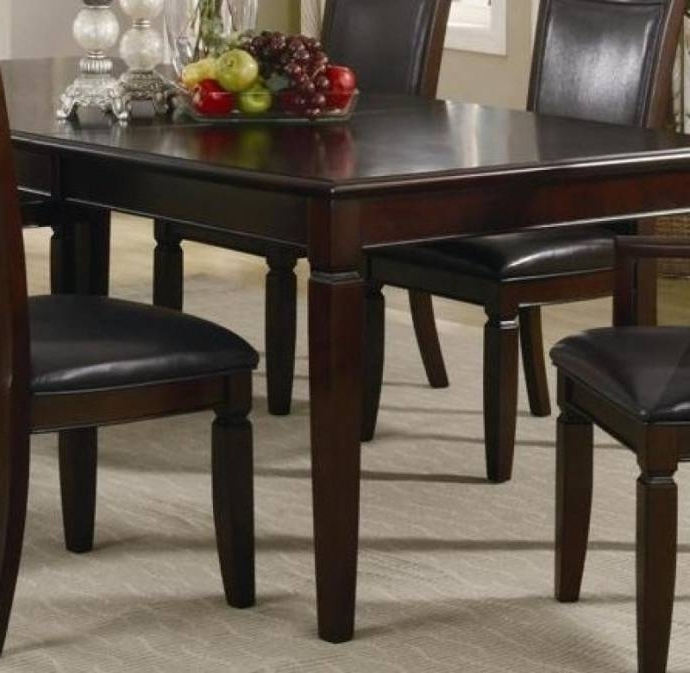Myco Furniture Ellington Modern Dark Walnut Rectangular Dining Set W Inside Newest Carly Rectangle Dining Tables (View 15 of 20)