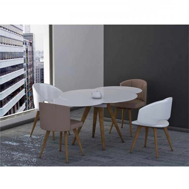 Myles Circular Extending Dining Table In Latest Circular Extending Dining Tables And Chairs (View 9 of 20)