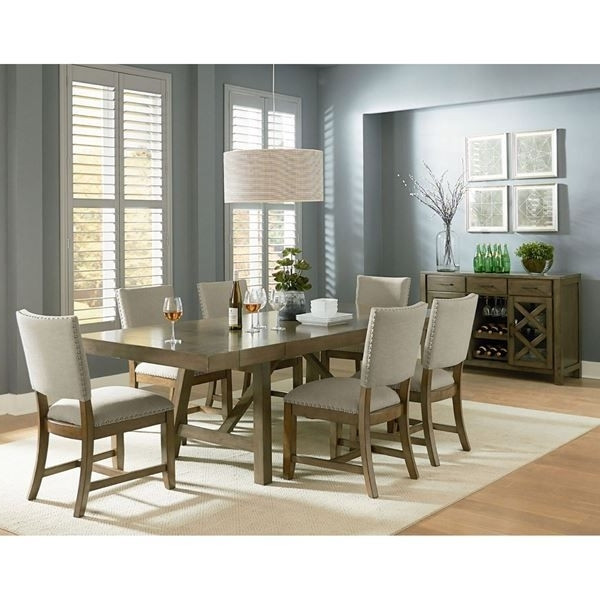 Nail Head, Dining And Paint Finishes With Regard To Most Recent Mallard 7 Piece Extension Dining Sets (View 14 of 20)