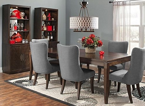 Nailhead Trim, Dining Room Intended For Popular Candice Ii 7 Piece Extension Rectangular Dining Sets With Slat Back Side Chairs (Gallery 17 of 20)