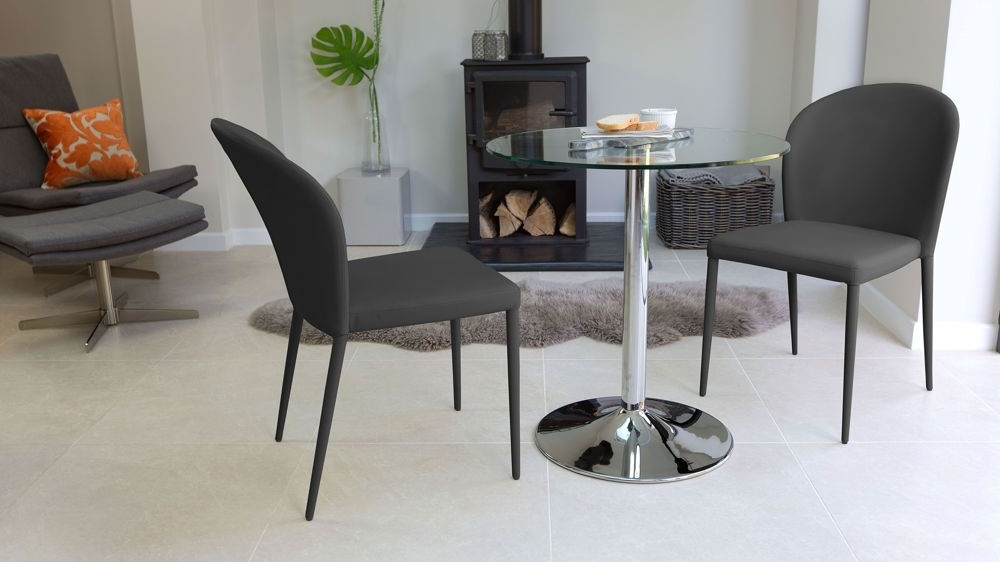 Naro Glass And Santo Stackable 2 Seater Dining Set (View 19 of 20)