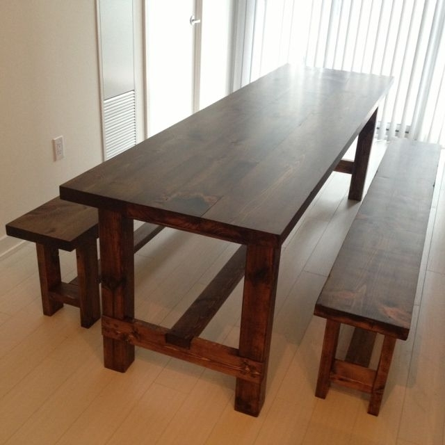 Narrow Dining Table With Bench Regarding Most Recently Released Narrow Dining Tables (View 19 of 20)