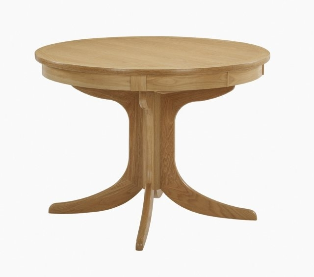 Nathan Furniture Nathan 2125 Shades Oak Circular Pedestal Dining With Regard To Most Current Circular Oak Dining Tables (View 13 of 20)