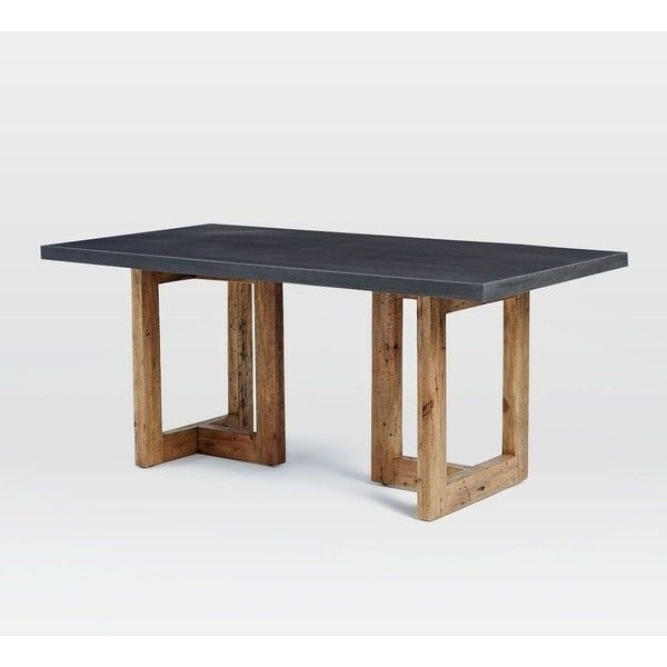 "Natural Wood & Recycled Elm 87 Inch Dining Tables Within Favorite West Elm Ashton Dining Table 68"", Lava Stone/reclaimed Pine (49, (View 17 of 20)"