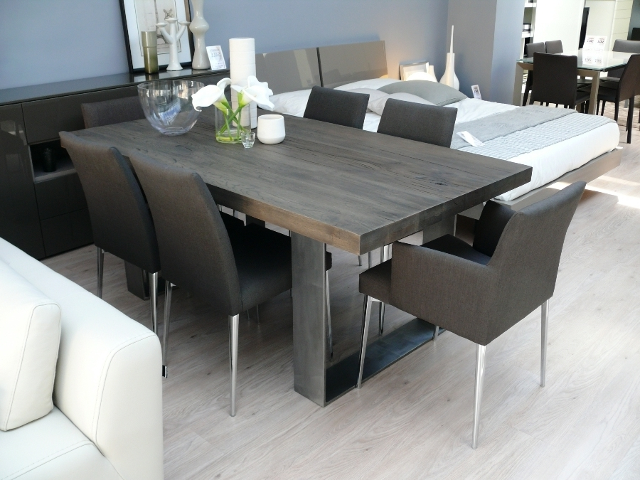 New Arrival: Modena Wood Dining Table In Grey Wash (View 8 of 20)