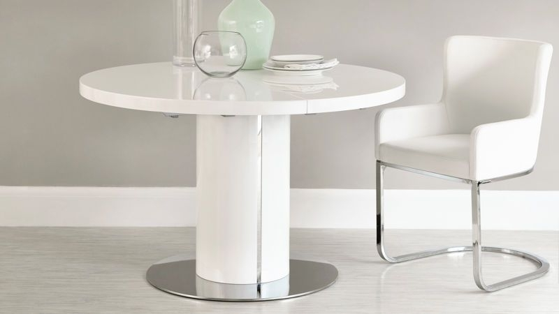 New Regarding Round White Extendable Dining Tables (View 10 of 20)