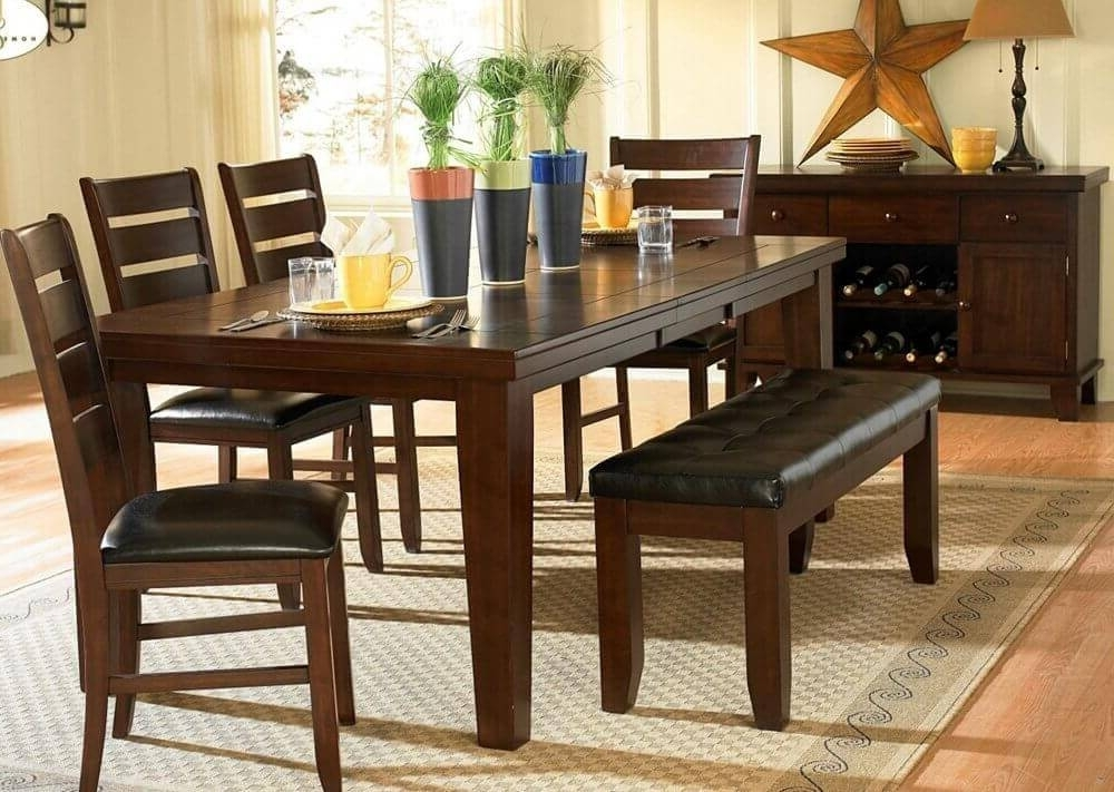 Newest 26 Dining Room Sets (Big And Small) With Bench Seating (2018) Within Small Dining Tables And Bench Sets (View 1 of 20)