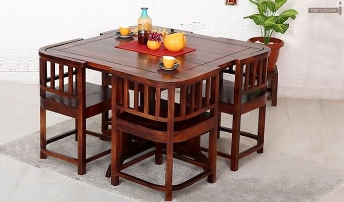 Newest 4 Seat Dining Tables With Regard To Get This Amazing Space Saving 4 Seater #dining #table #set Online (View 18 of 20)
