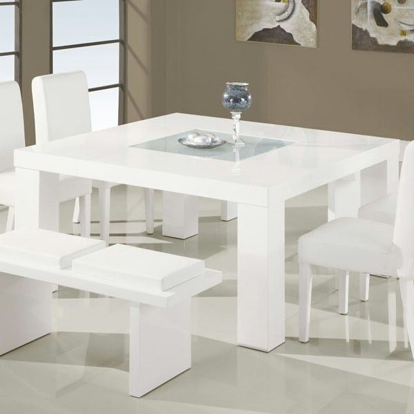 Newest 8 Seater White Dining Tables Inside All White 8 Seater Dining Table (Gallery 13 of 20)