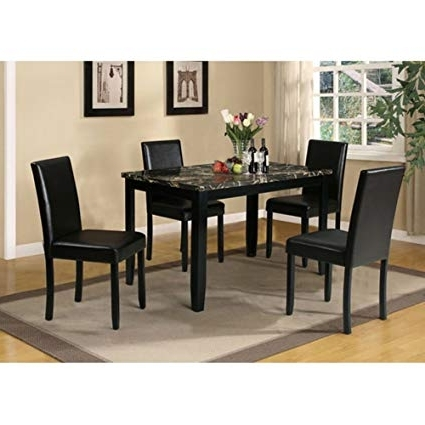 Newest Amazon – Acme Furniture Elmira 5 Piece Rectangular Dining Table With Rectangular Dining Tables Sets (Gallery 20 of 20)