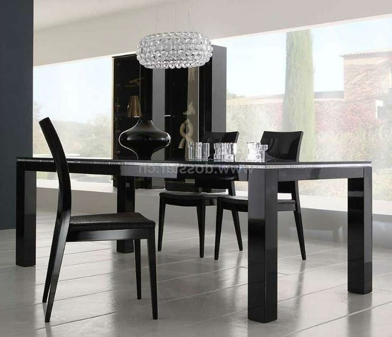 Newest Black High Gloss Dining Table Dm01# Shop For Sale In China (Mainland In Black Gloss Dining Sets (View 15 of 20)