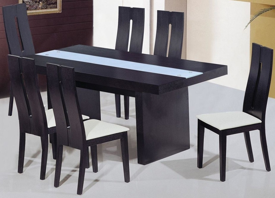 Newest Black Wood Dining Tables Sets Intended For Dining Room Designs: Charming Square Dining Set Table Black Wooden (View 14 of 20)