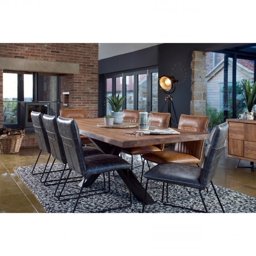 Newest Broadway 200Cm Dining Table + 6 Cooper Dining Chairs With Cooper Dining Tables (Gallery 4 of 20)