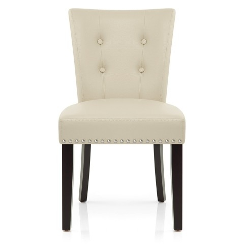 Newest Buckingham Dining Chair Cream Leather – Atlantic Shopping Throughout Cream Leather Dining Chairs (View 12 of 20)