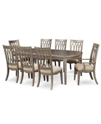 Newest Caira Black 7 Piece Dining Sets With Arm Chairs & Diamond Back Chairs For Kelly Ripa Home Hayley 9 Pc. Dining Set (Dining Table, 6 Side Chairs (Gallery 15 of 20)