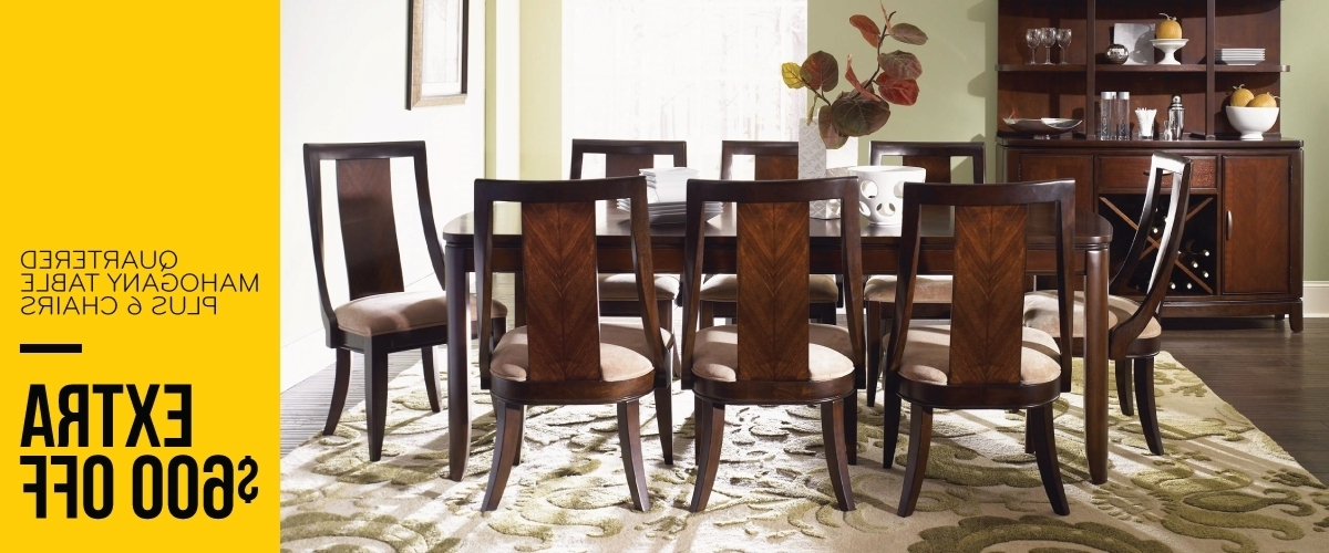 Newest Chandler 7 Piece Extension Dining Sets With Wood Side Chairs Regarding Dining Room Furniture Off Price (View 10 of 20)