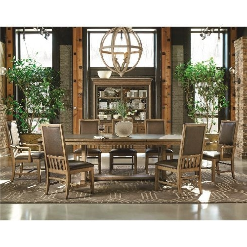 Newest Chandler 7 Piece Extension Dining Sets With Wood Side Chairs Within Metalworks Chic 5 Piece Dining Set (View 11 of 20)