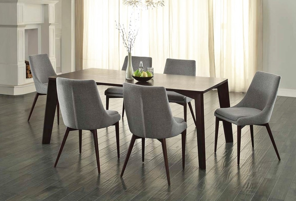 Newest Cheap Dining Room Chairs Pertaining To Sober And Elegant Modern Dining Room Set — Bluehawkboosters Home Design (View 16 of 20)