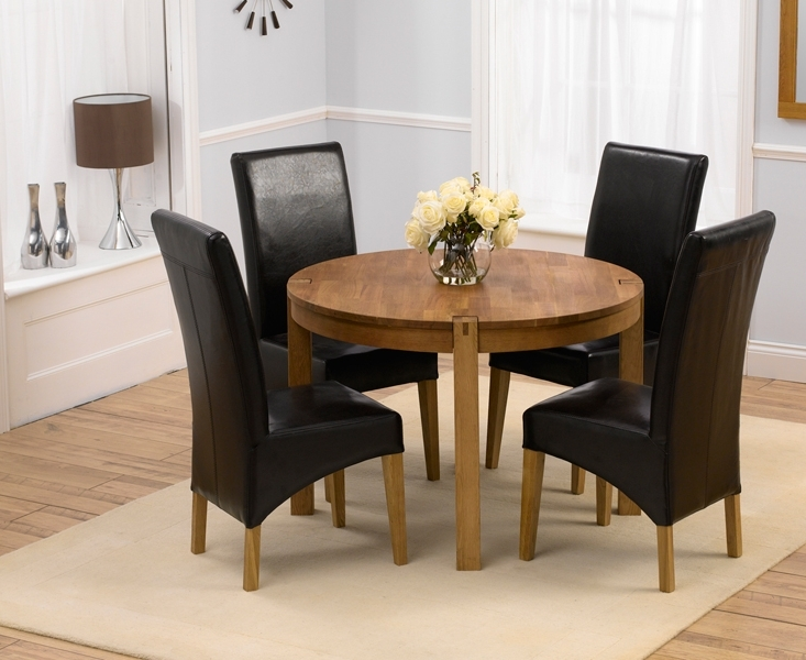 Newest Circular Dining Tables For 4 Pertaining To Lovable Round Dining Table Country Style Dining Chairs (View 13 of 20)