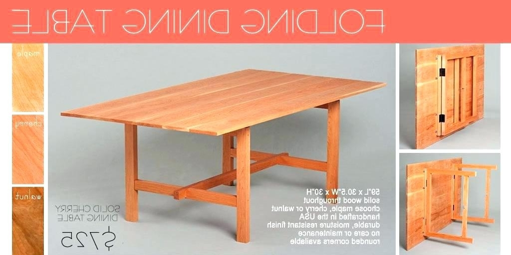 Newest Collapsible Kitchen Table Best Folding Dining Table Collapsible Inside Wood Folding Dining Tables (View 9 of 20)