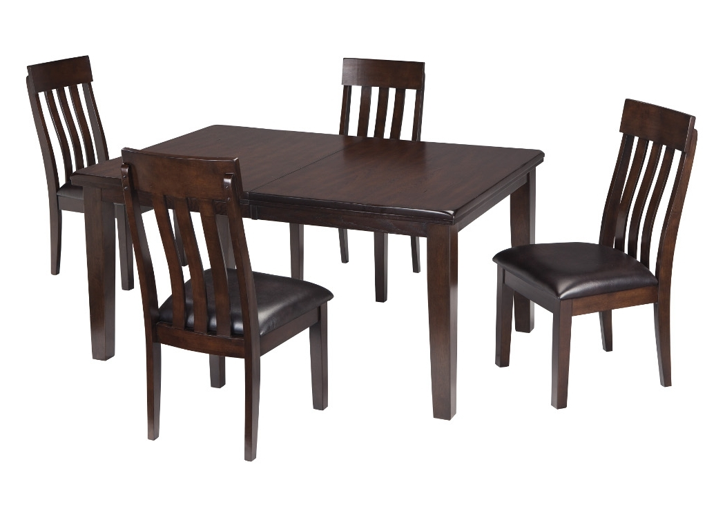 Newest Craftsman 9 Piece Extension Dining Sets With Uph Side Chairs Within Select Imports Furniture And Decor Haddigan Dark Brown Rectangle (View 13 of 20)