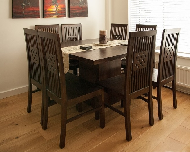 Newest Dark Wood Square Table – Contemporary Teak Dining Tables Intended For Dark Wood Square Dining Tables (Gallery 5 of 20)