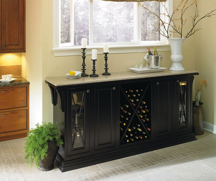 Newest Dining Room Cabinets Intended For Black Storage Cabinet In Dining Room – Omega (View 13 of 20)