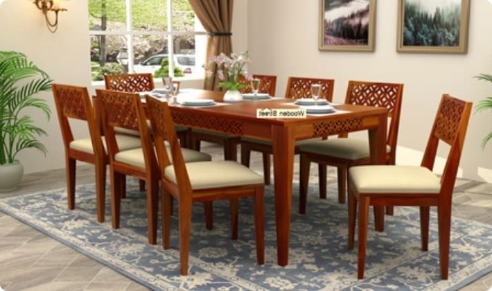 Newest Dining Table Sets: Buy Wooden Dining Table Set Online @ Low Price Regarding Cheap Dining Room Chairs (View 18 of 20)