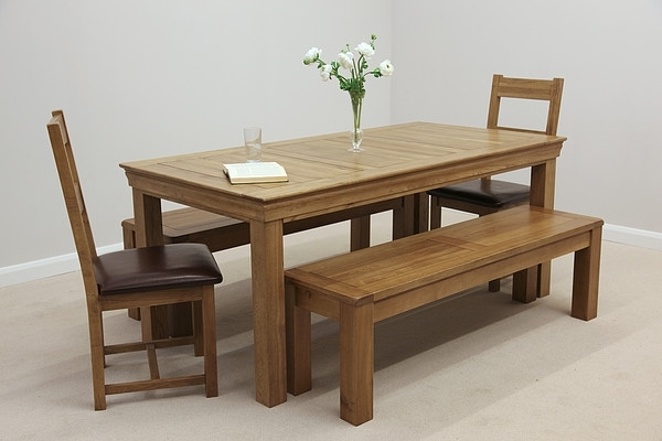 Newest Dining Tables And 2 Benches With Regard To Creative Design Oak Benches For Dining Tables 73 – Strawberryperl (View 17 of 20)