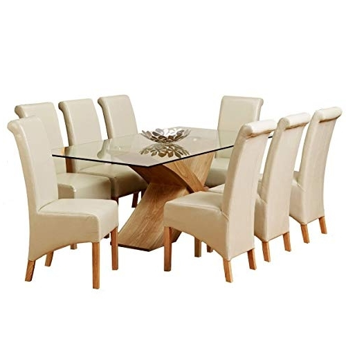 Newest Dining Tables And 8 Chairs Intended For Table With 8 Chairs: Amazon.co.uk (Gallery 12 of 20)
