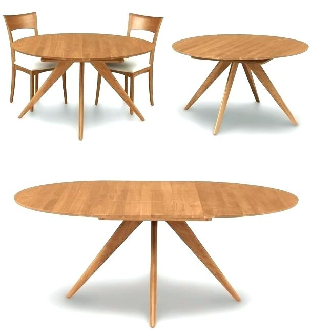 Newest Extended Round Dining Tables With Regard To Round Extending Dining Table Sets – Stylefemme (View 18 of 20)