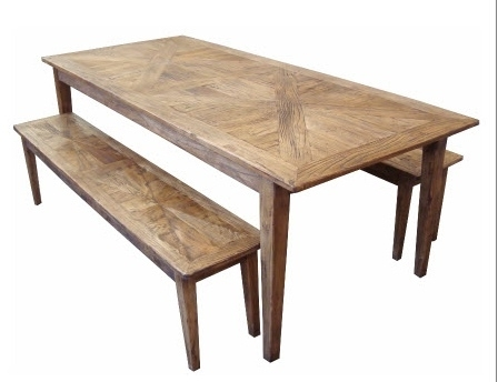 Newest Furniture Ranges :: Parquetry Recycled Elm :: Parquetry Dining Table Throughout Parquet Dining Tables (View 12 of 20)
