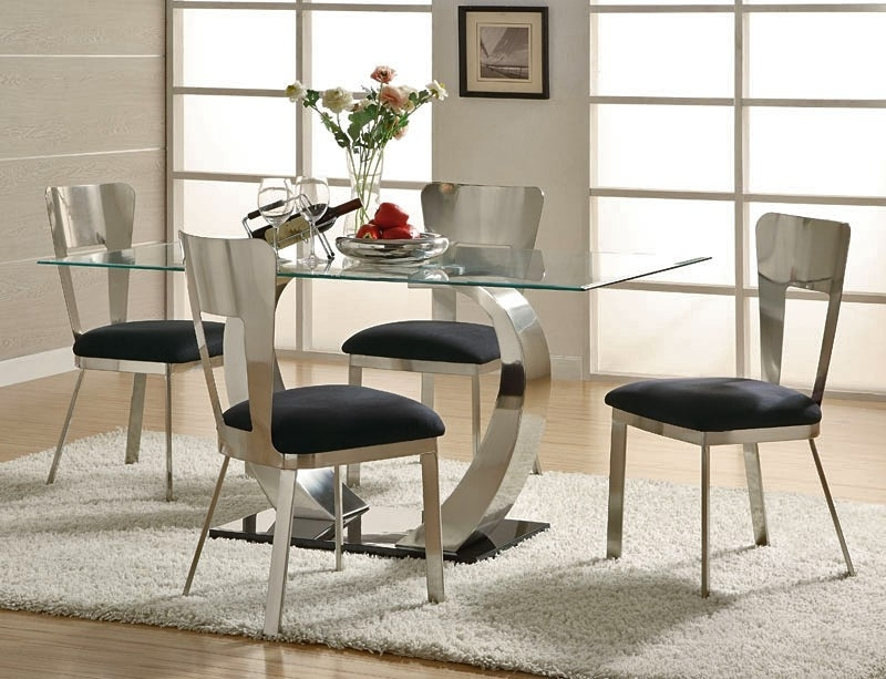 Newest Inspiration Modern Dining Room Sets — Bluehawkboosters Home Design Pertaining To Cheap Contemporary Dining Tables (Gallery 9 of 20)