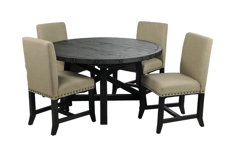 Newest Jaxon 5 Piece Round Dining Sets With Upholstered Chairs Regarding 9 Best Dining Room Images On Pinterest (View 18 of 20)