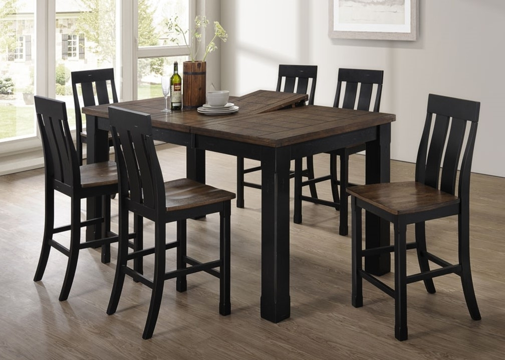 Newest Leon 7 Piece Dining Sets Intended For 5016 72 Tyler – United Furniture Industries (View 13 of 20)