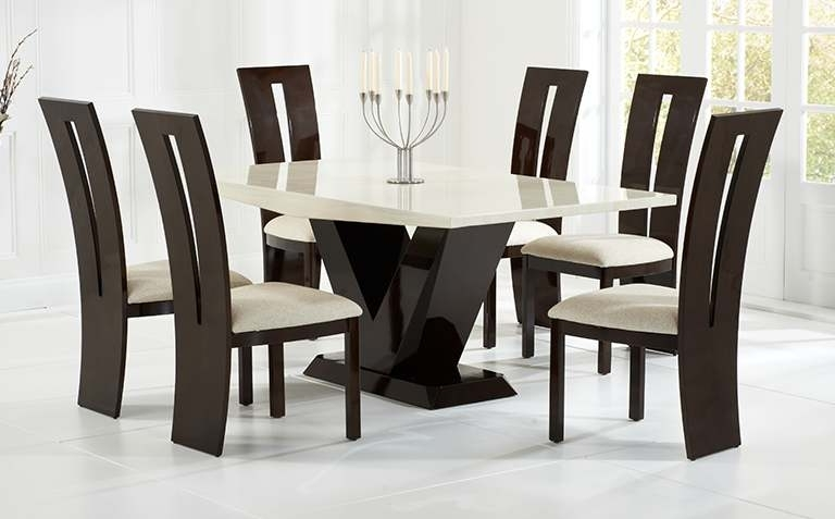 Newest Marble Dining Tables Sets For Dining Table Sets (View 18 of 20)