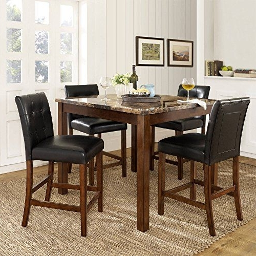 Newest Market 5 Piece Counter Sets For Jaxterrific Charming 5 Piece Dining Set, 1 Table And 4 Chairs (Gallery 15 of 20)