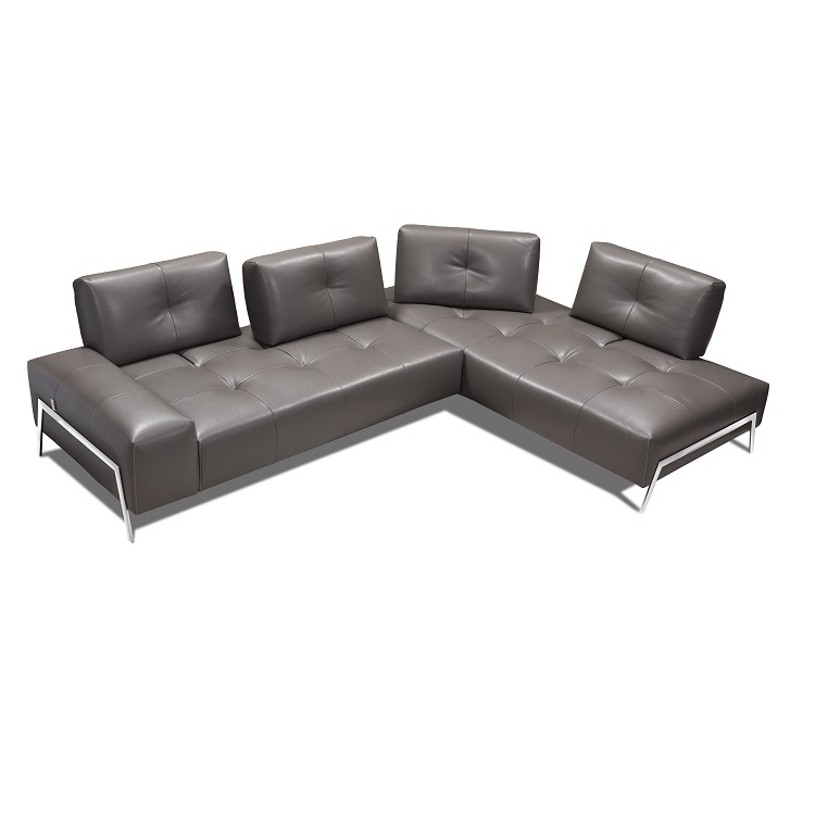 Newest Nico Grey Sectionals With Left Facing Storage Chaise With Hanna Sectional (View 13 of 15)