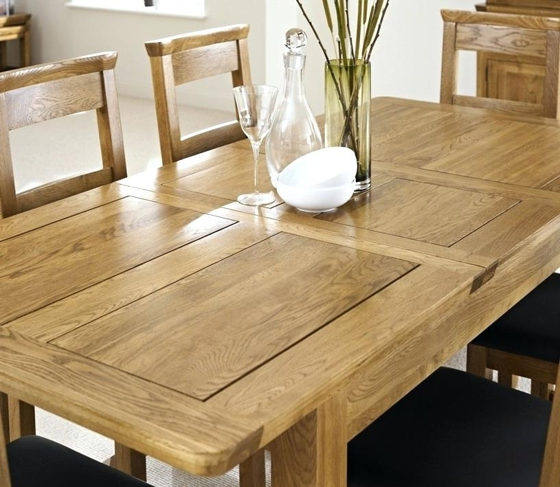 Newest Oak Extending Dining Tables And Chairs With Extendable Dining Table Rustic Oak Extending Dining Table With Four (View 8 of 20)