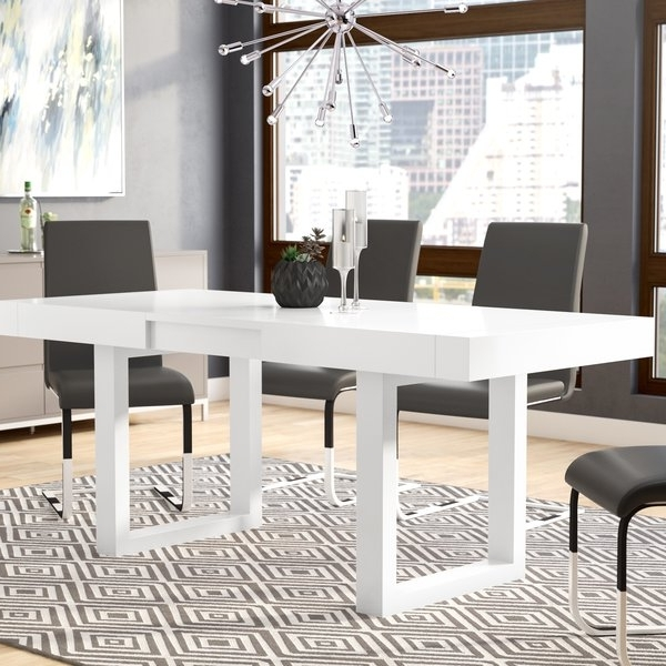 Newest Orren Ellis Marissa Expandable Dining Table & Reviews (View 14 of 20)
