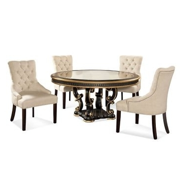 Newest Palazzo Rectangle Dining Tables Throughout How To Bassett Mirror Palazzo Round 5 Piece Dining Set W/ Natural (Gallery 18 of 20)