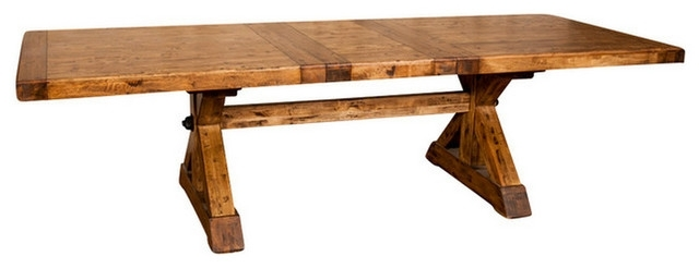 "Newest Rustic Dining Tables Regarding X Base Trestle Dining Table With Extension 88 110"" – Rustic – Dining (Gallery 13 of 20)"