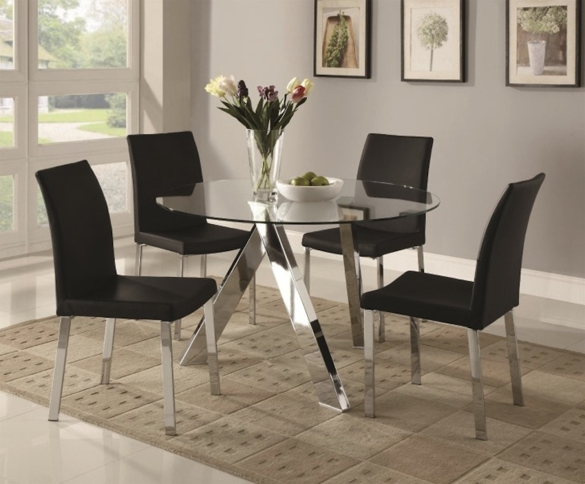 Newest Sleek Round Glass Dining Tables That Make A Stylish Impression With Regard To Sleek Dining Tables (View 13 of 20)