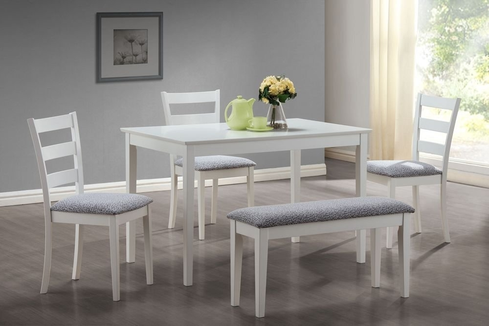 Newest Small Dining Tables And Bench Sets Regarding Dining Table And Bench Set – Castrophotos (View 8 of 20)