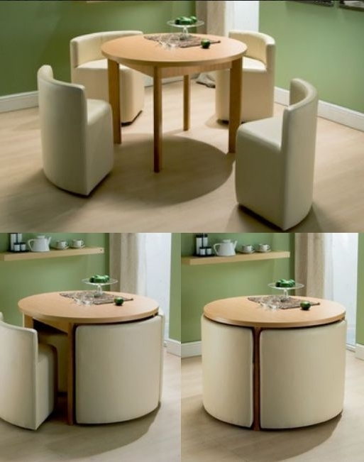 Newest Small Dining Tables And Chairs With Regard To Round Dining Table & Chairs For Small Homes (View 9 of 20)