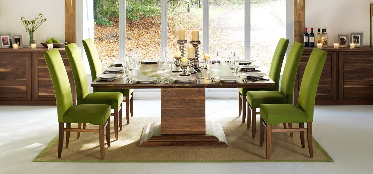 Newest Square Dining Tables In Solid Oak & Walnut, Extending Square Tables For Extendable Dining Tables With 8 Seats (Gallery 3 of 20)