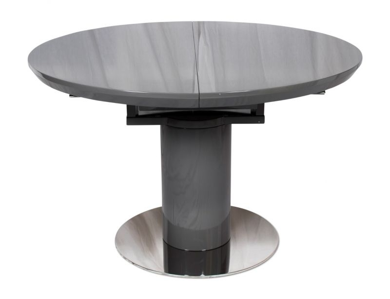 Newest Torelli Romeo High Gloss Round Ext Dining Table Grey – 120 160Cm Intended For High Gloss Round Dining Tables (View 20 of 20)