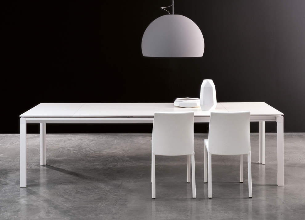 Newest White Extendable Dining Tables With Bonaldo Chat Double Extending Dining Table – Modern Extending Tables (Gallery 8 of 20)